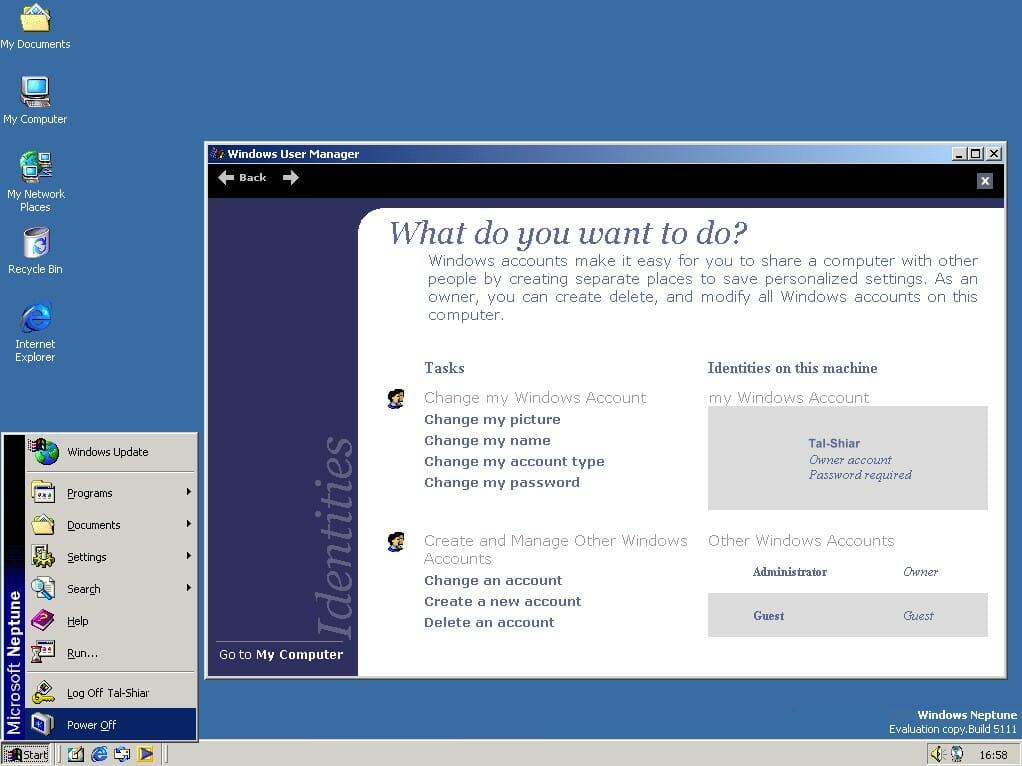 Windows Neptune Screenshot