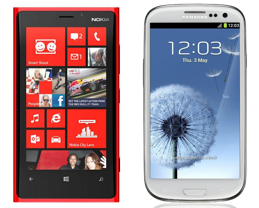 nokia lumia 920 oder samsung galaxy s3 zwei iphone rivalen im vergleich windows tweaks. Black Bedroom Furniture Sets. Home Design Ideas