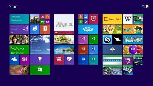 Windows 8.1-Produktschlüssel finden – so geht's - Startscreen von Windows 8.1