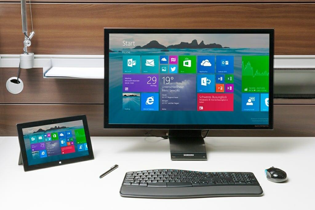 Microsoft Apps in der Desktop-Ansicht