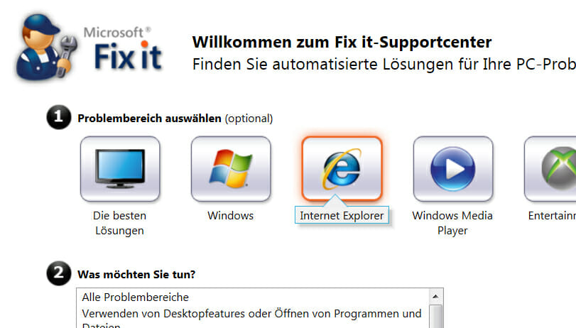 Internet Explorer zurücksetzen - Microsoft