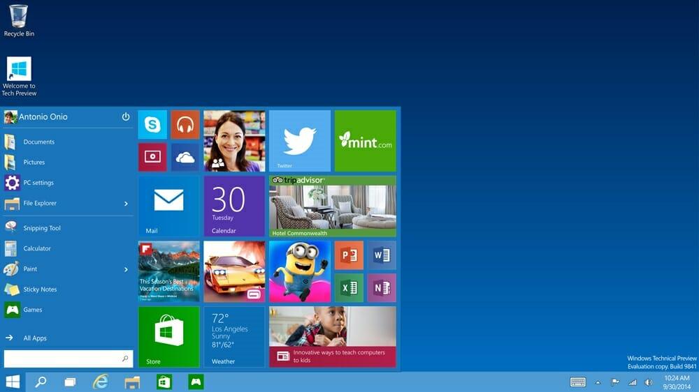 Windows 10 kann auch als ISO gebrannt werden - Foto: Microsoft Corporation