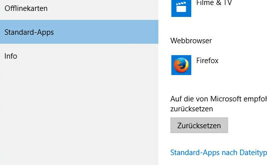 Windows 10 Browser ändern