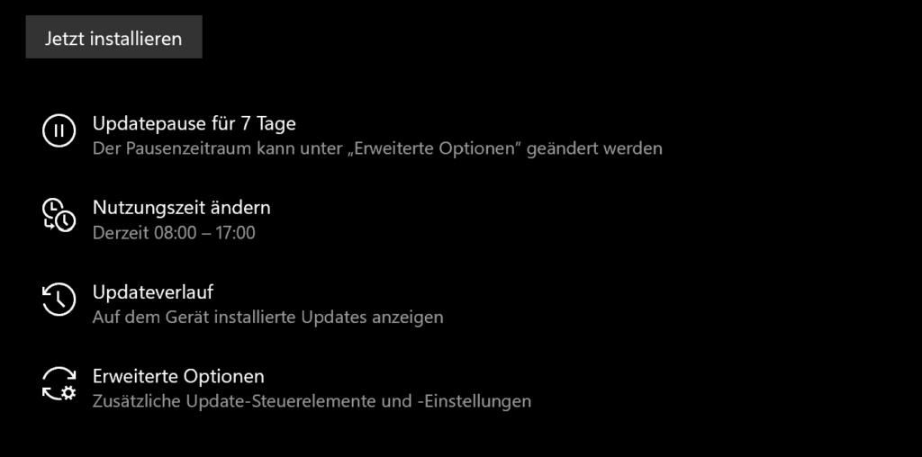 Update in Windows 10 und Windows 11 aussetzen